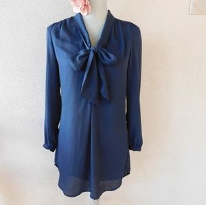 H&M Navy Blue Tunic Dress Sz 2 NWOT